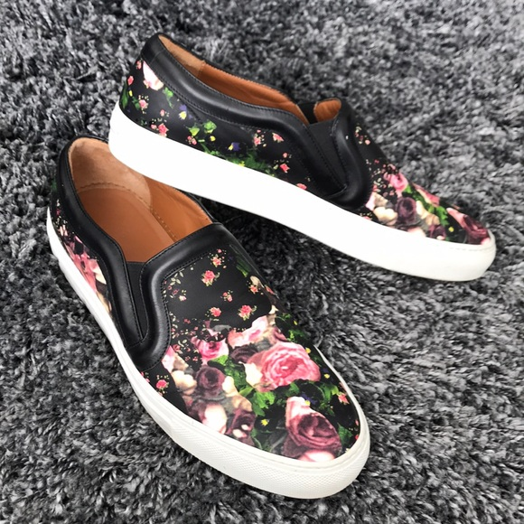 8266b80747 Givenchy Shoes - Givenchy floral print slip on sneakers